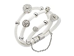 INOX Aria Multi White Leather Charm Bracelet