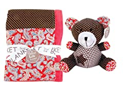 Chocolate Kiss Blanket & Buddy Set
