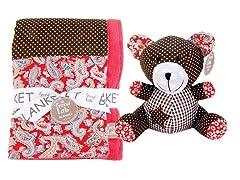 Chocolate Kiss Blanket & Buddy Set