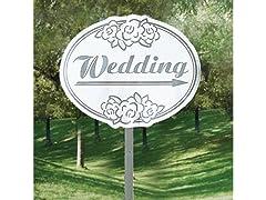 Fun Express - Cardboard Wedding Yard Sign