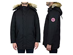 Men's Classic Parka with Detachable Hood