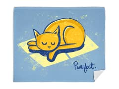 """Purrrfect Day"" Blanket"