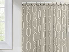 Arcadia Shower Curtain - Taupe