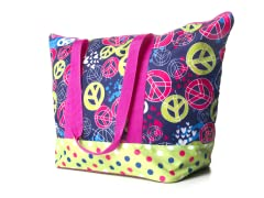 Splatter Peace Weekender Bag