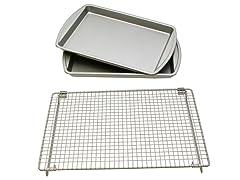Basic Baking Sheets and Cooling Rack Set