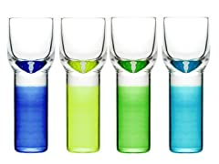 Sagaform Shot Glasses - S/4, Multicolor