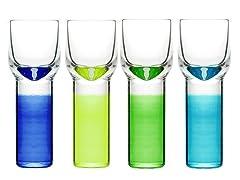 Shot Glasses - Set of 4 - 1 3/8 oz.