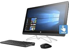 """HP 23.8"""" FHD A9 AIO Touch Desktops w/Office365"""