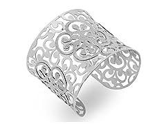 Stainless Steel Adjustable Glitter Cuff