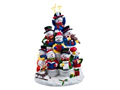 Snowman Tree Lighted Figurine