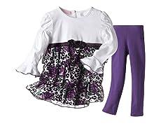 Tunic & Leggings Set - Purple (4-6X)
