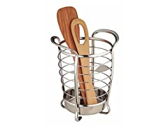 InterDesign Axis Chrome Round Utensil Holder