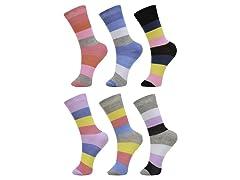 Daresay Women's Novelty Crew Socks 6-P