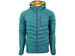 IZOD Men's Quilted Full Zip Puffer Jacket Hunter