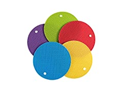 5 Pack Non Slip Heat Resistant Hot Pads
