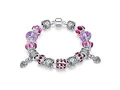 Purple Passion Charm Bracelet