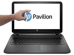 "HP 15.6"" Touchscreen A10 Quad-Core Laptop"