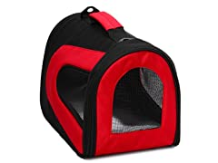 Red & Black Zippered Mesh Carrier