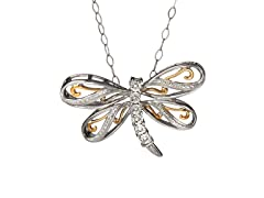 Sterling Silver & Diamond Dragon Fly