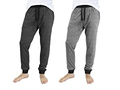 Men Marled Lounge ContrastCuff Pants 2PK