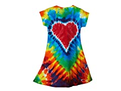 Girls A-Line Dress - Rainbow Heart (2-14)