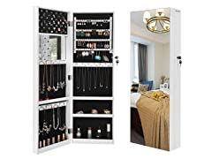 "SONGMICS 5.3"" D Deepened Jewelry Cabinet Armoire"