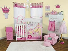 3pc Crib Bedding Set -Storybook Princess