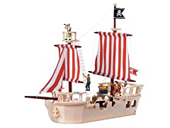 Pirates of the Sea Wooden Pirate Ship
