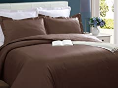 Microfiber Duvet Cover-Chocolate-2 Sizes