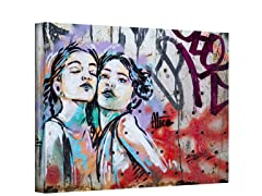 Sisters by Alice Pasquini - Wrapped Canvas