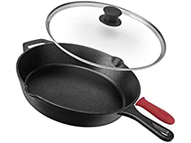 Pre-Seasoned Cast Iron Skillet, 12-Inch