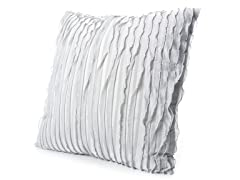 Ruffles 20x20 Pillow-Grey Silk