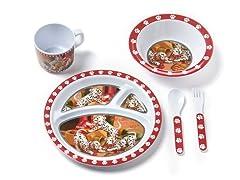 5-Piece Melamine Set - Dalmatian