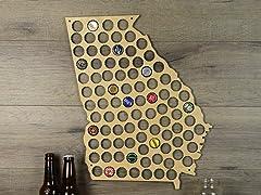 Beer Cap Map: Georgia