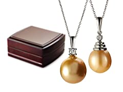 SS & Golden South Sea Pearl Necklace - 2 Styles