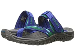 Skechers Women's Reggae-Brush Strokes Flip-Slop Toe Ring Sandal