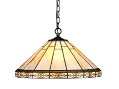 2-Light Pendant, Antique Bronze