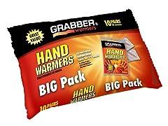 Grabbers Hand Warmers, 10 Pairs