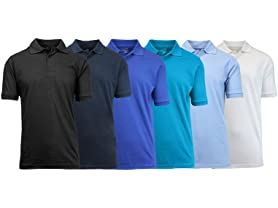 Blu Rock Men's Pique Polo 6-Pack