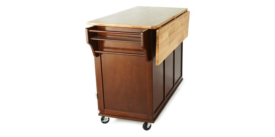 Austin kitchen cart espresso for Coffee cart for home