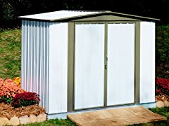 Arrow Sentry 8' x 5' Shed, White