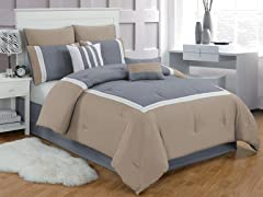 Contempo 8Pc Comforter Set - Cal King
