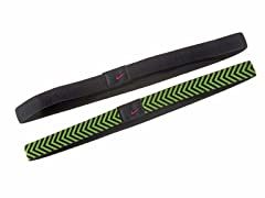 Black/Volt Chevron Sport Headband 2pk