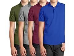Men's Poly Tech Pique Polo Shirt 2-Pack