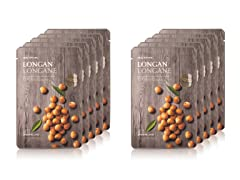 Real Nature Longan Face Mask - 10 Pack