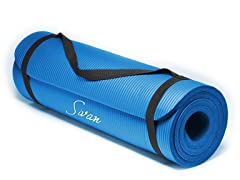 "1/2"" Comfort Foam Yoga Mat, GREEN"