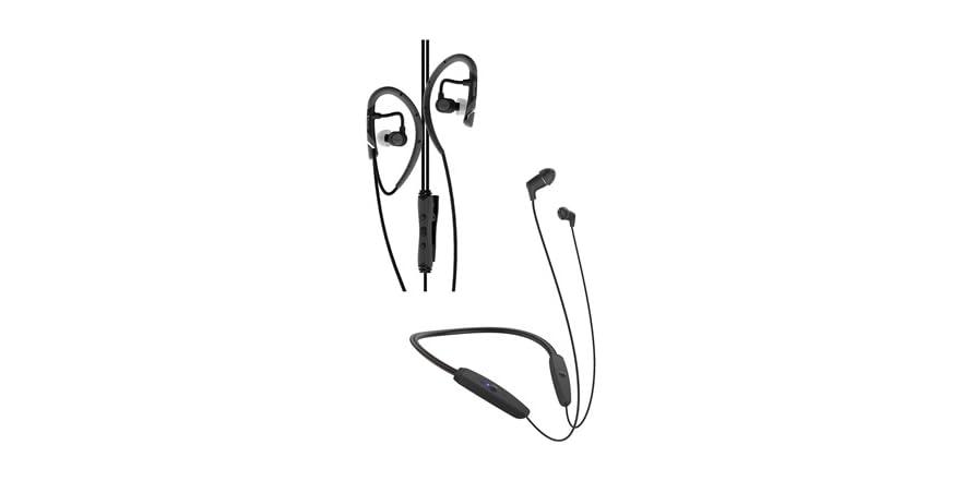 Klipsch R5 Wireless Neckband Headphones -OR- Klipsch AS-5i In-Ear Sports Headphones | WOOT