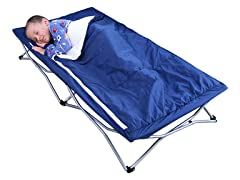 Regalo My Cot Deluxe w/ Sleeping Bag, Blue