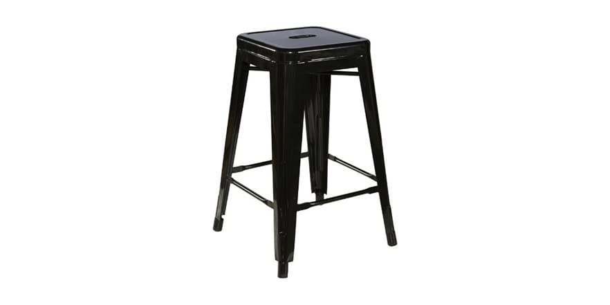 Square Metal Stool 2 Sizes Colors