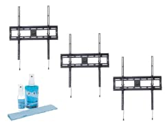 "3pk Tilting Mount for 32-72"" w/ Screen Clean Kit"